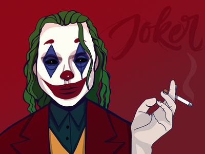 Joker procreate joker movie horror movie design dark personage illustration