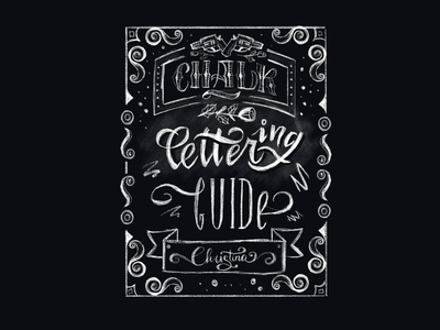 Lettering chalk calligraphy lettering design illustration