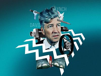 David Lynch design photo illustrator collage photoshop movie horror personage illustration