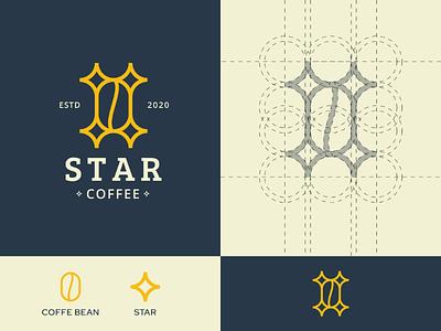 Star Coffee - Logo Concept coffee star mark logo design identity graphic design vector icon adobe illustrator flat minimal brand branding design logo concept