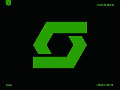 AL019 - Letter S hexagon typography symbol startup logo logotype logos letter s logo brand identity 36 days of type minimal vector mark logodesigner logo letter s identity designer design branding brand
