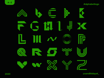 Alphabet Logo Final Post typography logodesign challenge illustration branding lettermark marks logo design identity alphabet 36daysoftype