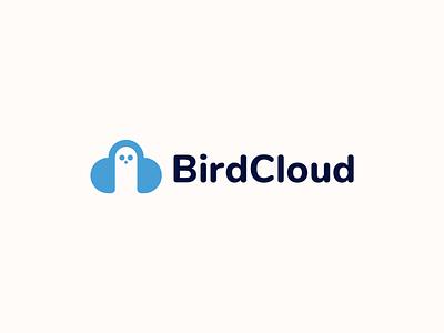 BirdCloud Logo Design modern icon visual identity minimalist design cloud logo bird logo cloud bird identity branding logodesign logo