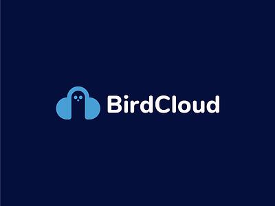 BirdCloud Logo Design cloud logo bird logo brand identity startup logo logodesigner designer logos minimal brand identity design branding logo