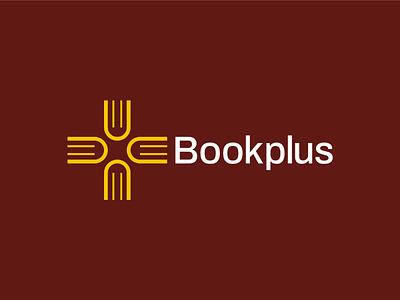 Bookplus Logo Design symbol modern mark icon cross visual identity startup logo minimal logos logodesigner logo identity designer design plus logo branding brand identity brand book logo