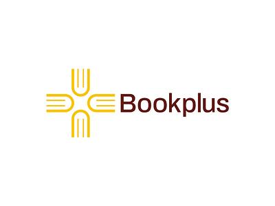 Bookplus Logo Design unused visual identity symbol startup logo plus logo modern minimal mark logos logodesigner logo identity icon designer design cross branding brand identity brand book logo