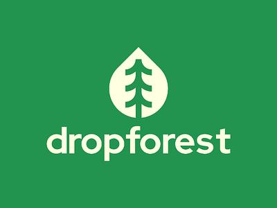 dropforest Logo Design nature logo design visual identity unused symbol startup logo forest logo modern logos logo designer logo identity icon design tree branding brand identity brand drop logo