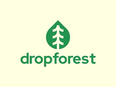 dropforest Logo Design visual identity mark tree symbol startup logo nature modern logos logo designer logo design logo identity icon forest logo drop logo design branding brand identity brand