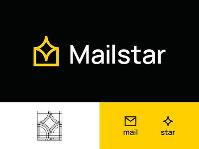 Mailstar Logo Concept visual identity unused logo concept startup logo star logo star modern mail logo mail logos logo designer logo design logo identity icon design branding brand identity brand