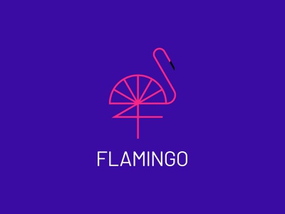 F - Flamingo stork swan geometric monoline vector flat bird logo flamingos flamingo symbol mark minimal brand identity logos branding brand design identity logo