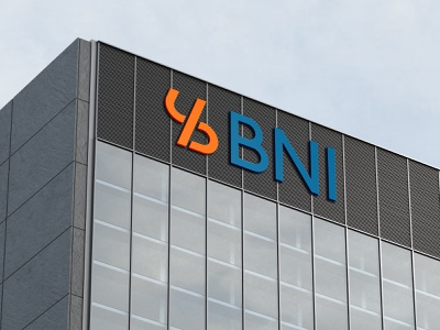 BNI Bank Signboard Mockups bank logo logo design illustration brand identity logos brand design identity branding logo graphic design