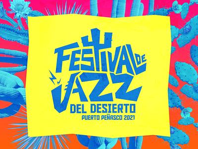 Festival de jazz del desierto lettering type diseño méxico branding design sonora logotype logo visorstudio