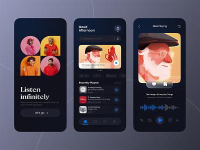 Podcast App Concept UI icon app web website design ux branding ui