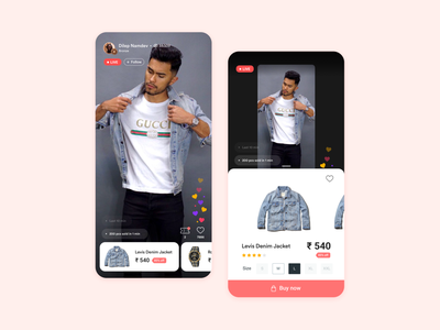 Roposo Shop - Influencer led Online Shopping ui branding ux