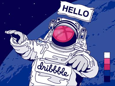 First Shot hellodribbble firstshot design illustration