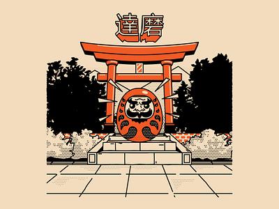 Daruma graphicdesign art illustration voodoofugu