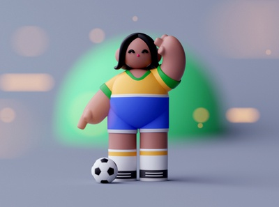 Soccer Player characterdesign character illustration lowpoly octane cinema 4d isometric