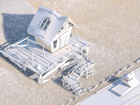 Isometric Wood House