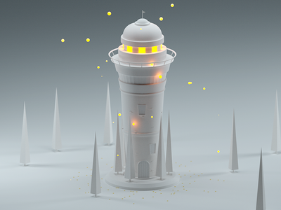Vigilance Tower octane cinema4d 3d forest clay render render vigilance vigilance tower