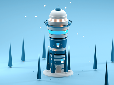 Vigilance Tower trees isometric 3d alone forest vigilance vigilance tower tower