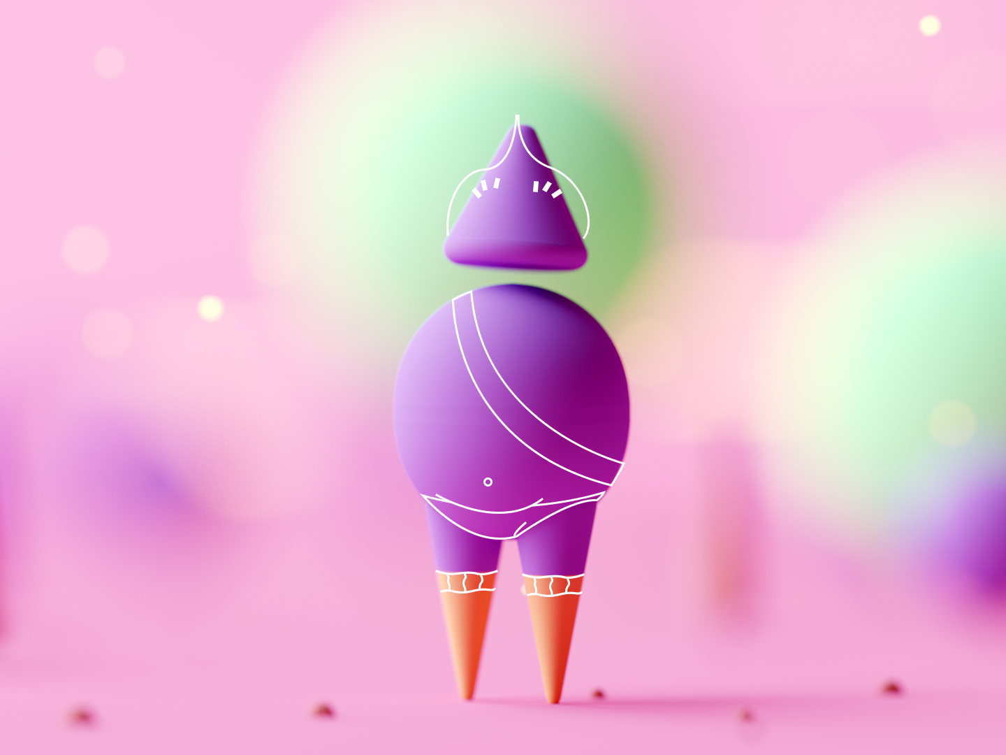 Shape Character #4 characters outline character design character low poly game lowpoly octane cinema 4d c4d 3d isometric