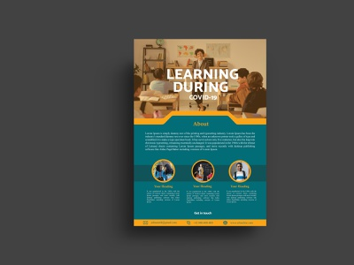 Educational  Flyer poster design flyer template flyer design design art brochure design designinspiration advertising design behance project graphicdesign dribbleshot design