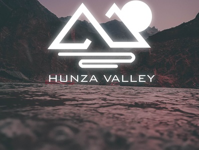 HUNZA VALLEY icon advertising branding design art vector logo illustration type tourism