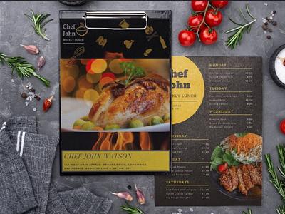 Menu Card restaurant menu card brochure brochure design illustrator icon typography logo advertising art vector branding design illustration