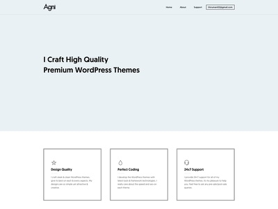 My New Homepage wordpress portfolio agni clean modern lite minimal