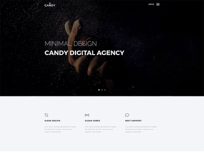 Candy WordPress Theme web design app landing wordpress portfolio onepage multipurpose clean agency