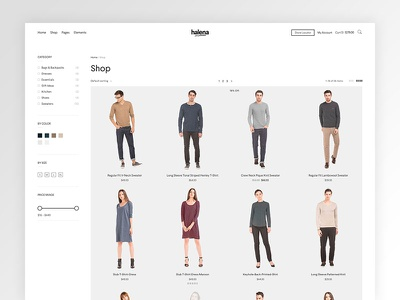 Halena - Upcoming eCommerce WordPress Theme web design modern website themeforest wordpress minimal ecommerce shop