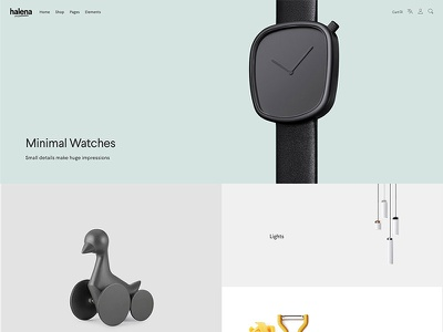 Halena - Minimal & Modern eCommerce WordPress Theme - Homepage web design modern website themeforest wordpress minimal ecommerce shop