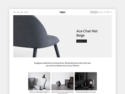Halena - Minimal & Modern eCommerce WordPress Theme - Homepage shop ecommerce minimal wordpress themeforest website modern web design