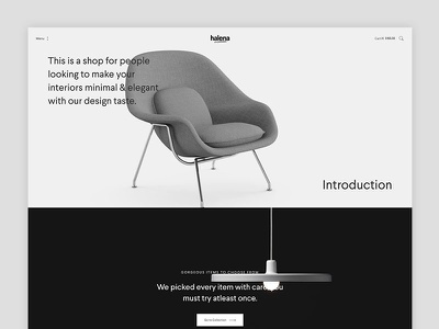 Halena - Minimal & Modern eCommerce WordPress Theme - Parallax web design modern website themeforest wordpress minimal ecommerce shop