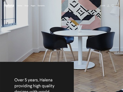 Halena - Minimal & Modern eCommerce WordPress Theme - Agency shop ecommerce minimal wordpress themeforest website modern web design