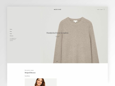 Merino - Modern WooCommerce shop theme for fashion store clean ecommerce themeforest minimal web design shop website wordpress modern