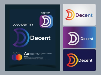 d letter logo mark | decent logo design. logo trends 2021 logo folio 2021 colorful logo monogram modernism logotype hire a logo designer letter mark logo letter logo d letter logo eye catching modern logo design icon brand identity creative logo abstract logo logo minimal branding