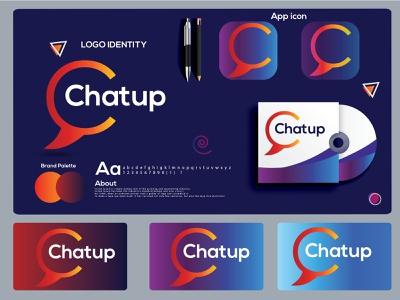 c letter logo mark | chatup logo design. dribbbble shot logo folio 2021 logo trends 2021 hire logo designer colorful logotype chatup chat app logos eye catching modern logo design icon brand identity creative logo abstract logo logo minimal branding