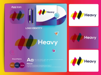 h letter mark logo | heavy modern logo design. logos logo mark colorful hire logo designer logo design h letter h letter logo dribbble best shot logo folio 2021 logo trends 2021 logotype eye catching modern logo design minimal logo brand identity creative logo abstract logo branding