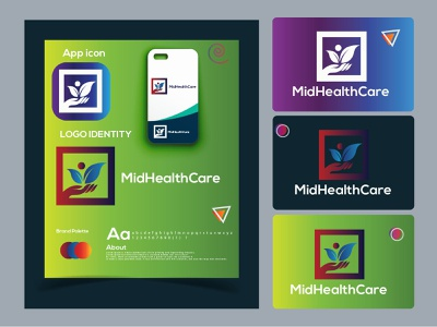 MidHealth Care modern logo design. logo mark colorful dribbble best shot hire logo designer logodesign modern logo design logotype midhealth care midhealth care logo trends 2021 logo folio 2021 eye catching modern logo design minimal logo brand identity creative logo abstract logo branding