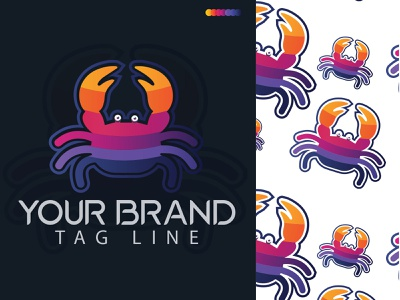 crab modern logo design logodesign gradient gradient logo logo design logo designer crabs crab logo crab modern logo design crab crab modern logo logotype logo folio 2021 logo trends 2021 eye catching modern logo minimal branding brand identity creative logo abstract logo