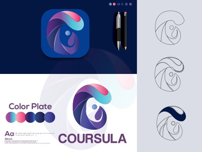 Premium Vector | Abstract gradient c letter logo design| c mode icon c letter mark logo hira a logo designer logo designer logos c letter logo c letter premium vector c modern letter logo logo folio 2021 logo logo trends 2021 eye catching modern logo minimal branding brand identity creative logo abstract logo