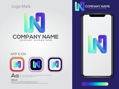 n letter logo design |  modern logo n letter logo logotype logo eye catching modern logo minimal creative logo branding brand identity abstract logo