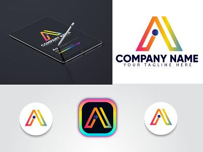 a+i letter logo design |  modern logo logo marca graphic design 3d modern ai logo logo design eye catching modern logo minimal creative logo branding brand identity abstract logo