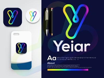 y letter logo mark |  modern logo 3d y letter y logo logo identidade visual logo eye catching modern logo minimal creative logo branding brand identity abstract logo