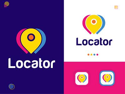 Locator modern logo logo identidade visual location logodesigner logos logo eye catching modern logo minimal creative logo branding brand identity abstract logo