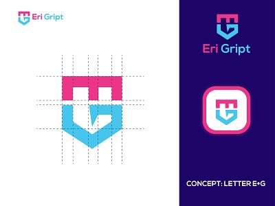 e+ g  letter mark logo | modern logo logo identidade visual logodesigner lettermark eg letter logo logo eye catching modern logo minimal creative logo branding brand identity abstract logo