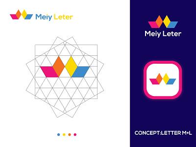 m+L  letter mark logo | modern logo | m+L letter letter logo design logo designer letter mark ml letter mark logo logos logo modern logo minimal creative logo branding brand identity abstract logo