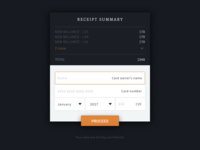 DailyUI #02 - Credit Card Checkout