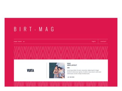 Birt-mag responsive web layout red pink magazine mag